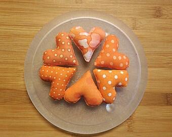 Orange Easter Heart Ornament Bowl Fillers