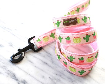 Desert Cactus Dog Leash - 4' or 5' - 2 colors to choose from
