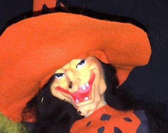 Vintage Halloween Witch Doll