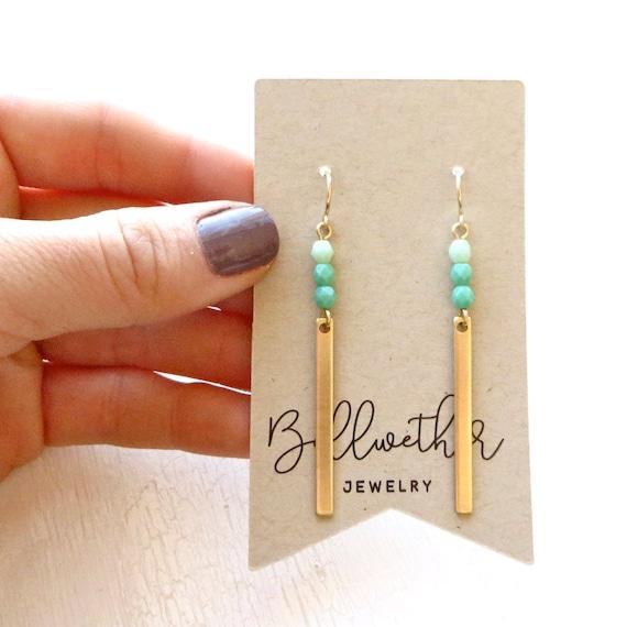 Reflection Earrings > Turquoise