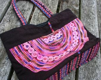 Guatemalan hippie bag boho shoulder purse hobo handbag