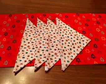 Judaica fabric napkins  Shabbat and Yom Tov