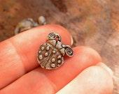 Pewter Button, Artisan Ladybug Button, 623P