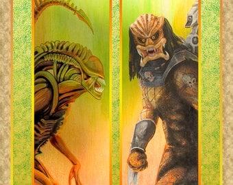 AVP Alien versus Predator Art Print