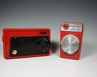 Two Red Radios, Admiral and Westinghouse Transistor