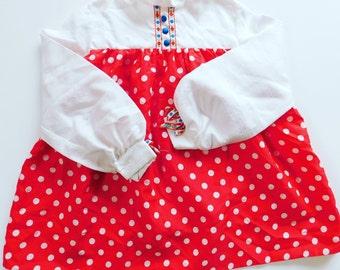 Vintage Little Girls Long Sleeve Dress