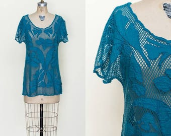 Vintage Shirt --- 1980s Womens Top