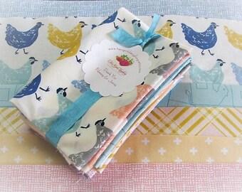 Fat Eights Fabric Bundle | Dear Stella | Jay-Cyn | Birch | Farm Fresh Fabric | 8 Medium Prints | Quilt Fabric | Hens Plaid Tone on Tone