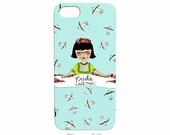 Phone Case - iphone - samsung - Frida cest moi - Frida Kahlo - turquoise