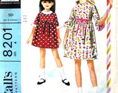 Size 4 Helen Lee Dress with Scalloped Collar McCalls 8201 Vintage Sewing Pattern