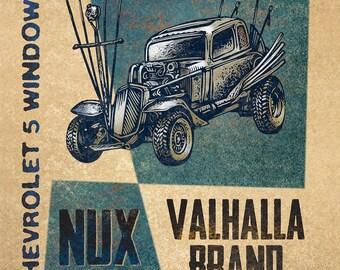 "Valhalla Brand Matchbox Art- 5"" x 7"" matted signed print"
