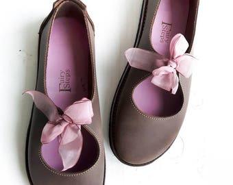 UK 7 Luna Lovegood Fairytale Shoe, barefoot comfort #3277 chocolate