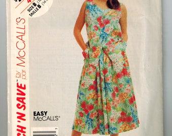 Vintage 90s Summer Top Skirt Sewing Pattern Sizes 10,14 16 18 Sleeveless Top U Neckline Front Button Gathered Skirt Side Seam Pockets
