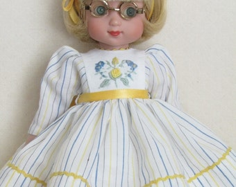 """Dress and Slip With Embroidered Bodice For Ann Estelle and Her 10"""" Friends, Also Heidi Plusczok 10.5"""""""
