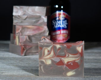 Cherry Ale | Beer Soap | Made with Sam Adams Cherry Wheat Beer | Gifts for Men | Fatty's Soap Co.
