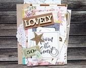 Lovely - Mini Book / Papercrafting Kit - Lovely Edition. Junk Journal. Smash Book. Mini Album.