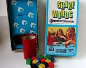 Vintage Shake Words Game  1970s Peter Pan Playthings Game with Alphabet Dice