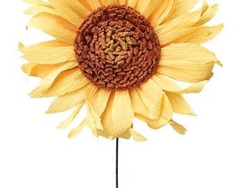 Sunflower: Handmade Crepe Paper Bloom