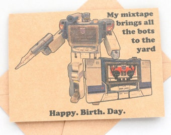 Transformers Decepticon Soundwave Birthday card  - Geek birthday card - funny birthday card transformers birthday card transformers gift