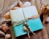 Mermaid Journal pocket size - mermaid starfish seashell beach vacation journal by tremundo