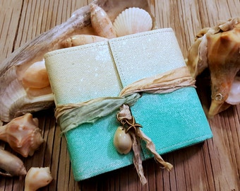Mermaid Journal pocket size - mermaid starfish seashell beach vacation journal by tremundo