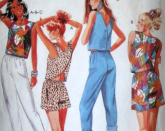 Vintage 80's Easy McCall's 3147 Sewing Pattern, Misses' Cropped Tops, Pants and Shorts, Size 10, 32 1/2 Bust, 1980's Spring Summer Fashion