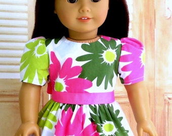 18 inch Doll Clothes Easter Dress, M2M Gymboree Doll Dress, Pink Flower Dress