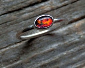 Australian opal ring / rainbow opal triplet / stacking opal ring / October birthstone / opal jewelry / gift for her / ready to ship ring