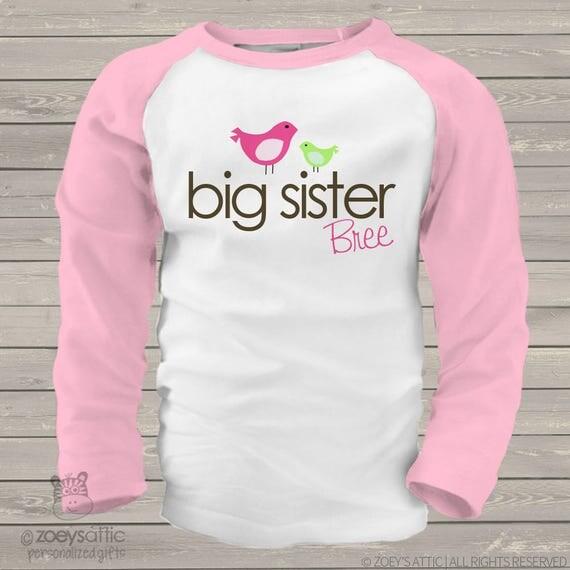 big sister shirt (or big sister to be) on a cute baseball raglan style shirt  SLEEVES MAB1-007