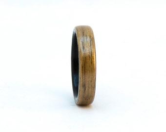 Walnut and Ebony Wood Ring, Size 8, Bentwood Ring, Liner Ring, Wooden Ring, Wood Wedding Band, Wood Wedding Ring, Bentwood Wedding Band Men