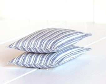 Set of 2 Lavender sachets, Lavender bags, Lavender flowers, Dried lavender, Scented bag, Blue White Stripes, Organic Lavender Sachets