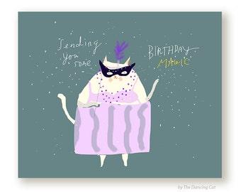 Birthday Magic- Birthday Cat Card