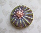LAST ONE Cabochon, Cabochon Flower, Handcrafted Cabochon, Stoneware Pendant, Art Bead, The Classic Bead,