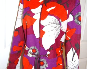 1970s Dress - Mod Dress - Abstract Floral Print - Hipster Dress - 70s Fashion - Fashionista - Vintage Dresses - Polyester Dress