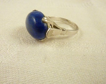 Vintage Vargas Sterling Silver and Blue Lapis Ring Size 8