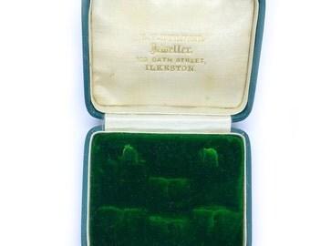 Antique cufflink box Collar stud Case Mens Vintage jewelry storage presentation 1900s Victorian Edwardian English jewellery display gift box