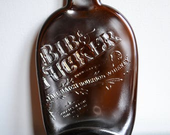 Bib and Tucker Bourbon Upcycled and Recycled Slumped Bottle California