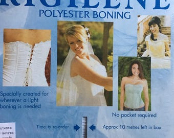 2 yds. Rigilene Boning in White 8mm width  for Grad or Bridal, Gowns, Corsets, Costumes