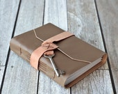 Leather Journal with Antique Skeleton Key