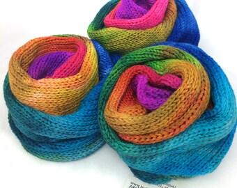 Rainbow Voodoo Handpainted Sock Blank - double stranded (dye batch 4A)
