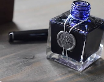 J. Herbin 1670 Dip & Fountain Pen Ink Bottle - Bleu Ocean 50ml