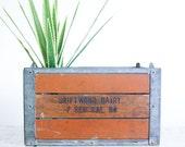 Rustic Vintage Milk Crate / Urban Farmhouse / 1960's Industrial Decor / Golden Creme Farms