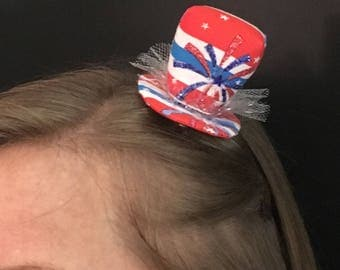 4th of July Mini Hat - Red, White & Blue