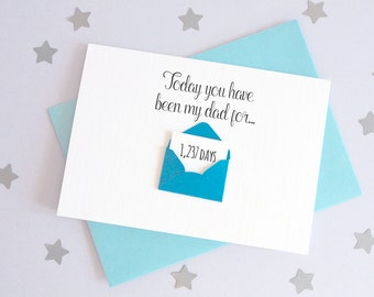 Days You've Been My Daddy Mini Envelope Card – Personalised Father's Day Card – Card for Daddy – birthday card Daddy – Christmas card Daddy