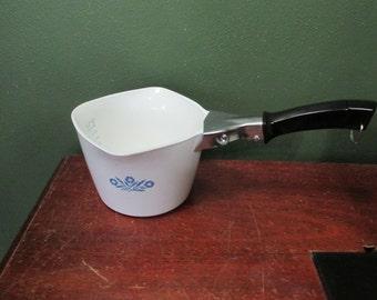 Corning Ware Sauce Maker Cornflower Blue with Removable Handle 1 Quart