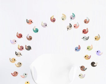 Colorful Birds Wall Decal
