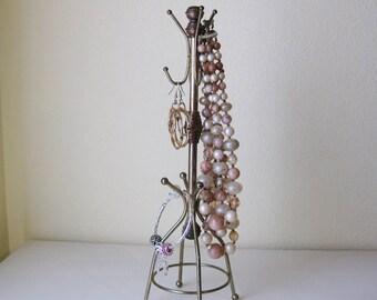 Miniature Brass Coat Rack Jewelry Holder
