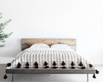 Gorgeous Platform Bed, Reclaimed from Old Midwest Barn