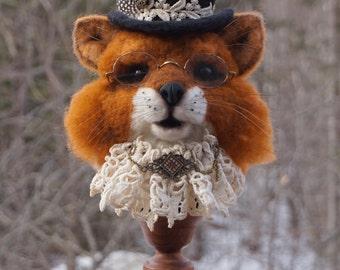 Needle Felted Fox Animal Sculptures by Bella McBride