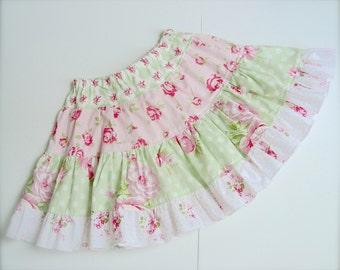 Girls Tiered Ruffle Boutique Twirl Skirt PDF Pattern ODELIA E Book Tutorial Juvie Moon Designs
